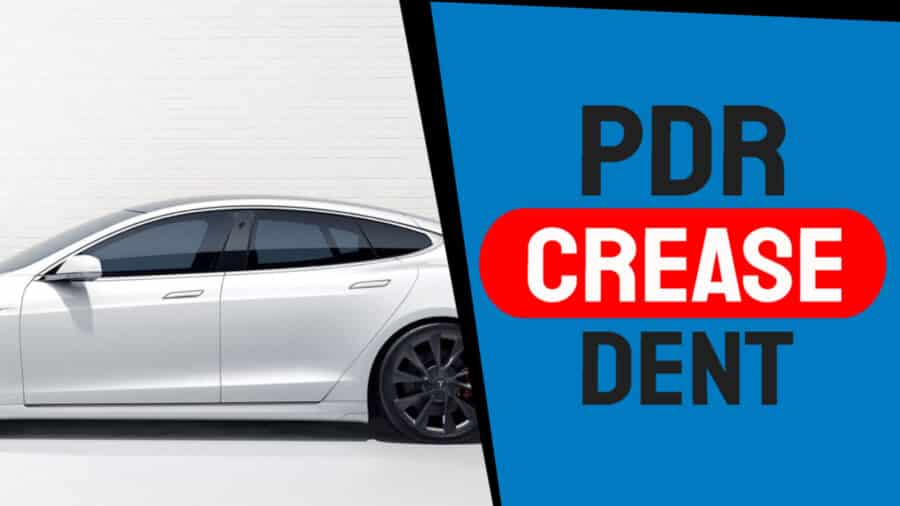 Paintless Dent Removal for a Crease Dent